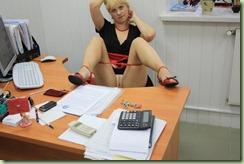 naked secretary